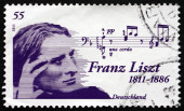 Postage stamp Germany 2011 Franz Liszt, Hungarian Composer — Stock Photo