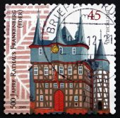 Postage stamp Germany 2009 Frankenberg City Hall — ストック写真