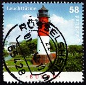 Postage stamp Germany 2013 Busum, Lighthouse — Stock Photo