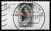 Postage stamp Germany 1998 Human Ear — Stock Photo