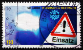 Postage stamp Germany 2000 Federal Disaster Relief Organization — Foto de Stock