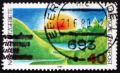 Postage stamp Germany 1980 Nature Preserve — Stock Photo