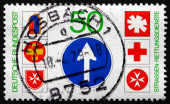 Postage stamp Germany 1979 Emblems of Road Rescue Services — Stock Photo