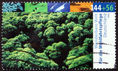 Postage stamp Germany 2004 Tree Tops, Natural Landscape — Stock Photo