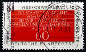 Postage stamp Germany 1981 Sovereignty of the People — Stock Photo
