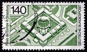 Postage stamp Germany 1977 Palace of Europe, Strasbourg — Stock Photo