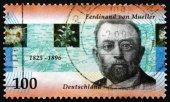 Postage stamp Germany 1996 Ferdinand von Mueller, Botanist — Stock Photo