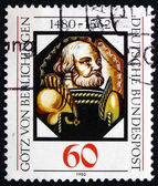 Postage stamp Germany 1980 Gotz von Berlichingen, German Imperia — Stock Photo
