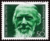 Postage stamp Germany 1981 Wilhelm Raabe, Novelist and Poet — Stock Photo