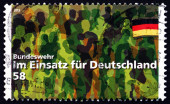 Postage stamp Germany 2013 Bundeswehr - Working for Germany — Stock Photo