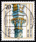 Postage stamp Germany 1985 Stucco Column, by Dominikus Zimmerman — Stock Photo