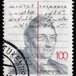 Постер, плакат: Postage stamp Germany 1989 Franz Xaver Gabelsberger