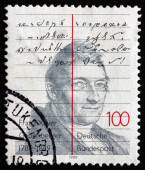 Postage stamp Germany 1989 Franz Xaver Gabelsberger — Stock Photo