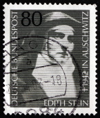 Postage stamp Germany 1983 Edith Stein, Martyr and Saint — Stock Photo