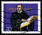 Postage stamp Germany 1983 Martin Luther German Priest — Stock Photo