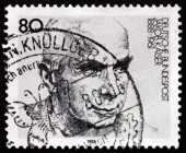 Postage stamp Germany 1988 Jacob Kaiser, German Politician — Stock Photo