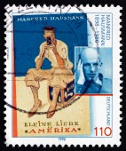 Postage stamp Germany 1998 Manfred Hausmann, Writer and Journali — Stock Photo