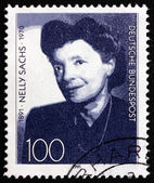 Postage stamp Germany 1991 Nelly Sachs, Poet and Playwright — Stock Photo