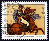 Postage stamp Germany 1992 Gebhard Leberecht von Blucher — Stock Photo