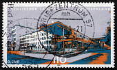Postage stamp Germany 2001 State Parliament of Saxony — Stock Photo