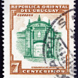 Postage stamp Uruguay 1954 Montevideo Fortress — Stock Photo #54580191