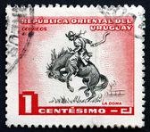 Rupture de cheval timbre-poste uruguay 1954 — Photo