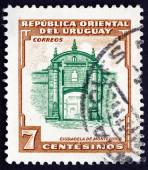 Postage stamp Uruguay 1954 Montevideo Fortress — Stockfoto