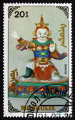 Postage stamp Mongolia 1991 Defend, Buddhist Effigy — Stock Photo
