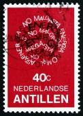 Postage stamp Netherlands Antilles, Curacao 1978 Conserve Energy — Stock Photo