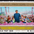 Postage stamp North Korea 1977 Kim Il Sung, Painting — Stock Photo #54830793