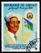 Postage stamp Djibouti 1987 President Hassan Gouled Aptidon — Stock Photo