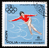 Postage stamp Mongolia 1967 Figure Skating, Winter Olympics — Stock Photo
