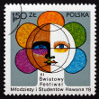 Postage stamp Poland 1978 Youth Festival Emblem — Stock Photo #54917467