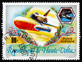 Postage stamp Burkina Faso 1983 Space Shuttle Challenger — Stock Photo