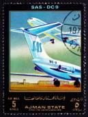 Postage stamp Ajman 1972 DC 9, SAS, Airliner — Stock Photo