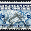 Postage stamp USA 1926 Map of U.S. and Two Mail Planes — Stock Photo #55278349
