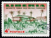 Postage stamp Liberia 1957 Orphanage and Orphanage Playground — Foto de Stock