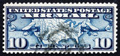 Postage stamp USA 1926 Map of U.S. and Two Mail Planes — Stock Photo