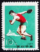 Postage stamp North Korea 1965 Discus Throw, Sport — Stock Photo