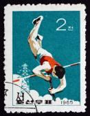 Postage stamp North Korea 1965 Pole Vault, Sport — Stock Photo