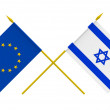 Flags, Israel and European Union — Stock Photo #55861551