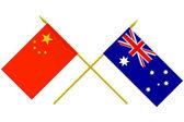 Flags, Australia and China — Foto de Stock