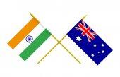 Flags, Australia and India — Foto de Stock