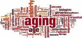 Aging word cloud — Stock Vector