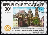 Postage stamp Togo 1981 Aix-la-Chapelle Cathedral, Germany — Stockfoto