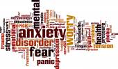 Anxiety word cloud — Stock Vector
