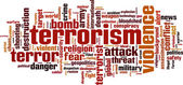 Terrorism word cloud — Stock Vector