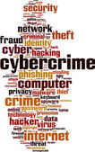 Cybercrime word cloud — Stock Vector