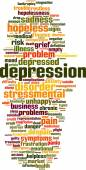 Depression word cloud — Stock Vector