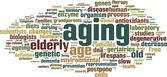 Aging word cloud — Stock Vector